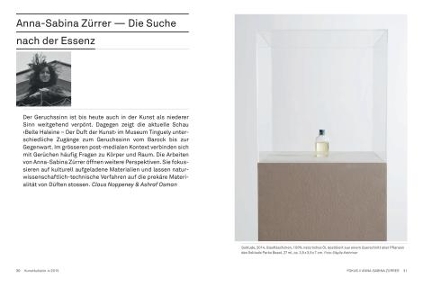 Kunstbulletin 4/2015 Fokus // Anna-Sabina Zürrer