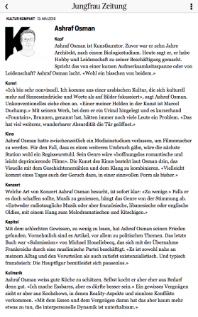 Jungfrau Zeitung - Ashraf Osman